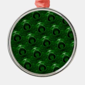 texture green malachite metal ornament
