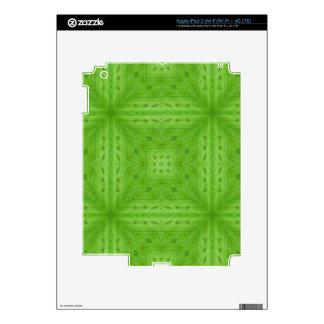 Texture Green wood pattern iPad 3 Skins