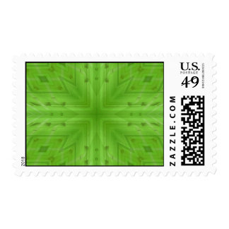 Texture Green wood pattern Postage Stamp