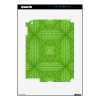 Texture Green wood pattern Skins For iPad 2