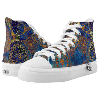 Texture High-Top Sneakers