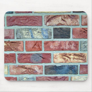 Texture Of A Colored Brick Wall Mousepads