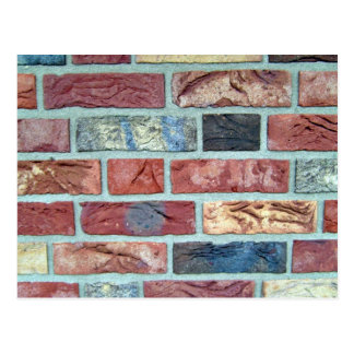 Texture Of A Colored Brick Wall Postcard