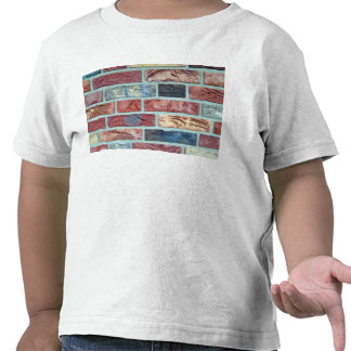 Texture Of A Colored Brick Wall Tee Shirt