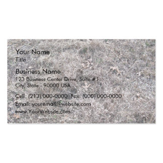 Texture of Dry Grass and Leaves Business Card