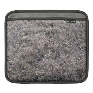 Texture of Dry Grass and Leaves iPad Sleeves