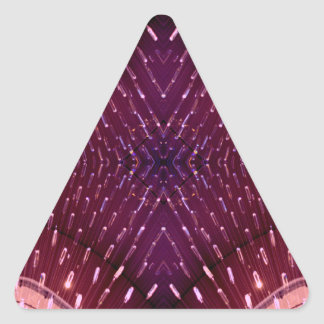 Texture of Light 2 - Pink and Red Triangle Sticker