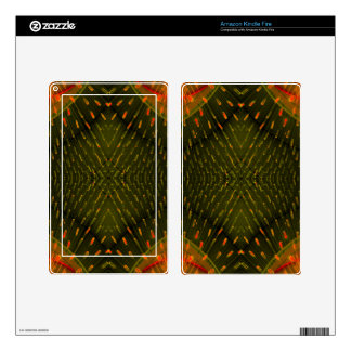 Texture of Light - Orange Green Light Thing Kindle Fire Skins