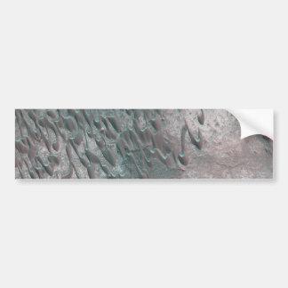 texture of mars dunes car bumper sticker