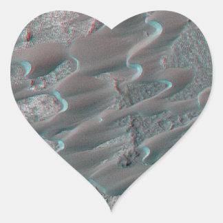 texture of mars dunes heart sticker