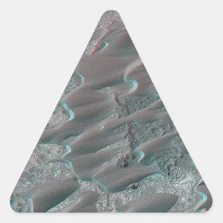 texture of mars dunes triangle sticker