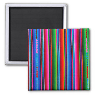 Texture Of Mexican Fabric 2 Inch Square Magnet
