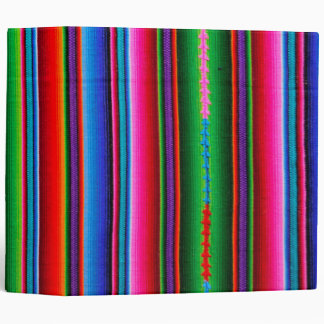 Texture Of Mexican Fabric 3 Ring Binder