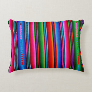 Texture Of Mexican Fabric Decorative Pillow