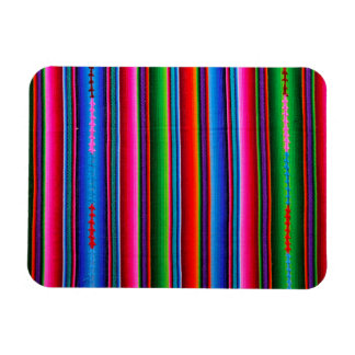 Texture Of Mexican Fabric Rectangular Photo Magnet