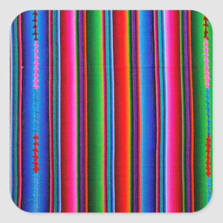 Texture Of Mexican Fabric Square Sticker