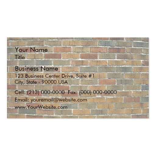 Texture of Mixed Color Brick Wall Business Card
