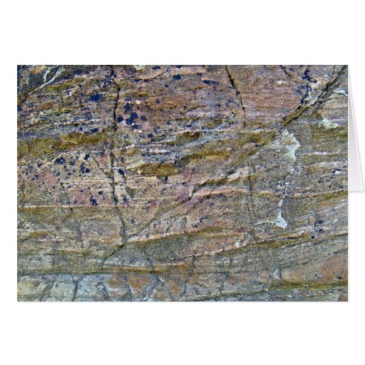 Texture of Mountain Wall with Lichens Cards