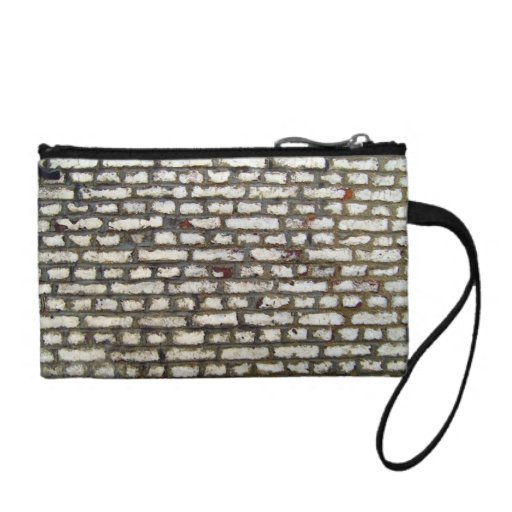 Texture Of Old Brick Wall With White Bricks Change Purses