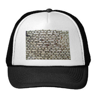 Texture Of Old Brick Wall With White Bricks Hat