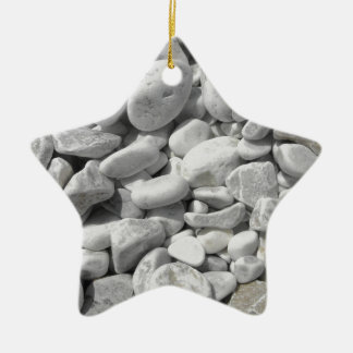 Texture of pebbles from a beach shore ceramic ornament