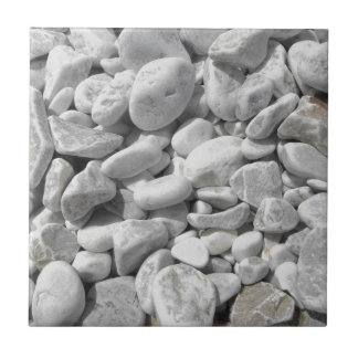 Texture of pebbles from a beach shore tile