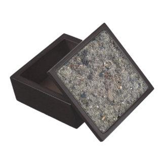Texture of sand after rain premium trinket boxes