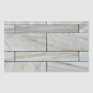 Texture Of Stacked Stone Wall Tile Rectangular Sticker