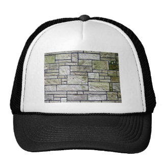 Texture Of Stone Wall Covered With Mosses Trucker Hats