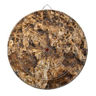Texture of the wet and yellow stone dart boards