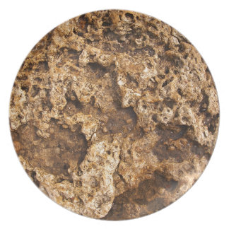 Texture of the wet and yellow stone party plate