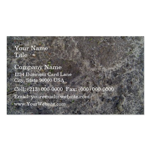 Texture of wet sand surface after the rain business card
