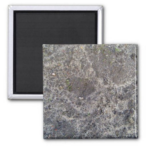 Texture of wet sand surface after the rain 2 inch square magnet