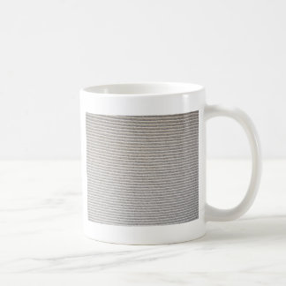 Texture of white fabric striped for background coffee mug
