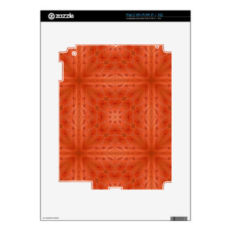 Texture orange wood pattern decals for the iPad 2