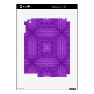 Texture Purple wood pattern Decals For iPad 2