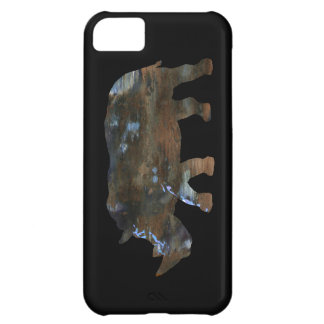 texture rhino animal black cover for iPhone 5C