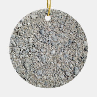 Texture - Stony Ground Background Christmas Tree Ornament