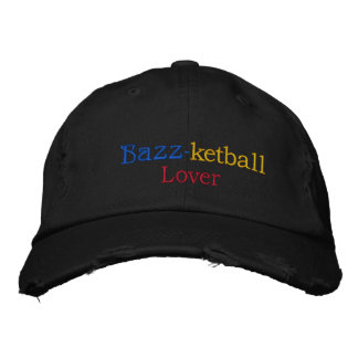 Texture & Team Spirit_Bazz-ketball Lover Embroidered Baseball Cap