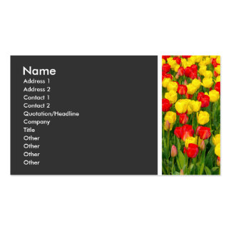 Texture Tone (Colorful Tulips) Business Card