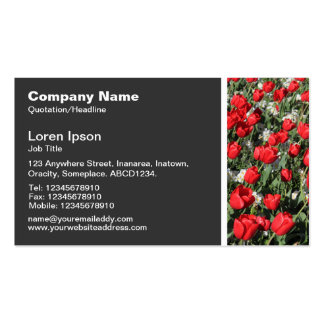 Texture Tone - Red Tulips Business Card