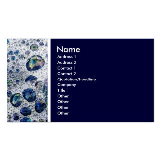 Texture Tone (Soap Suds) - Navy Blue Business Card Templates