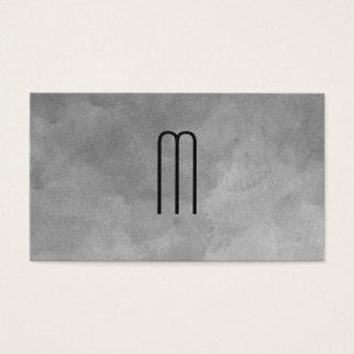 Texture Watercolor Monogram Business Card
