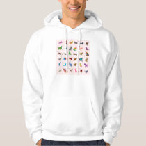 Texture With Colorful Cats Hoodie