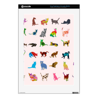 Texture With Colorful Cats PS3 Console Decals