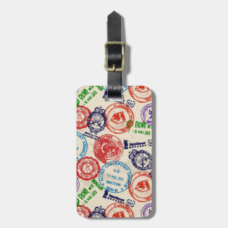 Texture with real stamps. bag tag