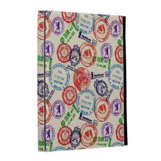 Texture with real stamps. iPad cases