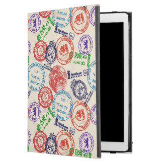 """Texture with real stamps. iPad pro 12.9"""" case"""