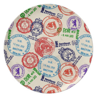 Texture with real stamps. plate