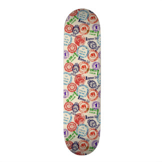 Texture with real stamps. skateboard deck